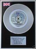 "SUZI QUATRO - 7"" Platinum Disc -  48 CRASH"